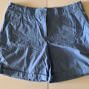 TALBOTS French Blue Cargo Short Size 14